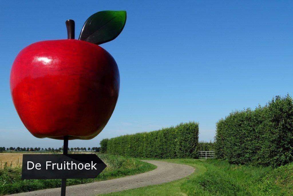 Fruitbedrijf Van den Berge appel met pijl 'De Fruithoek'