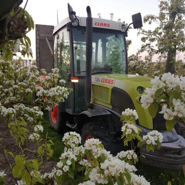 Fruitbedrijf Van den Berge_tractor in bloesem