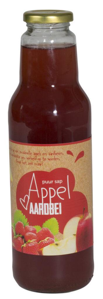 Fruitbedrijf Van den Berge: appel aardbeiensap