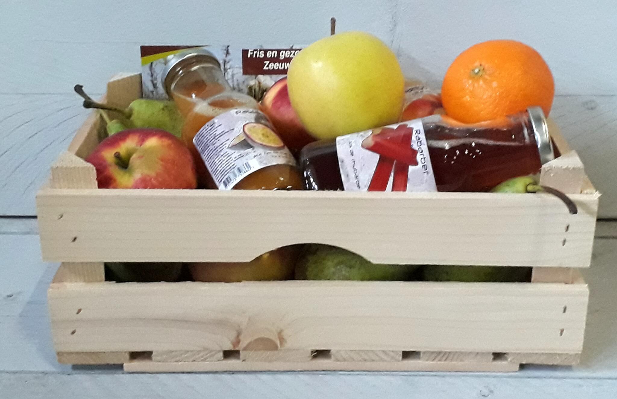 Fruitbedrijf Van den Berge: Fruitkistje met sapjes