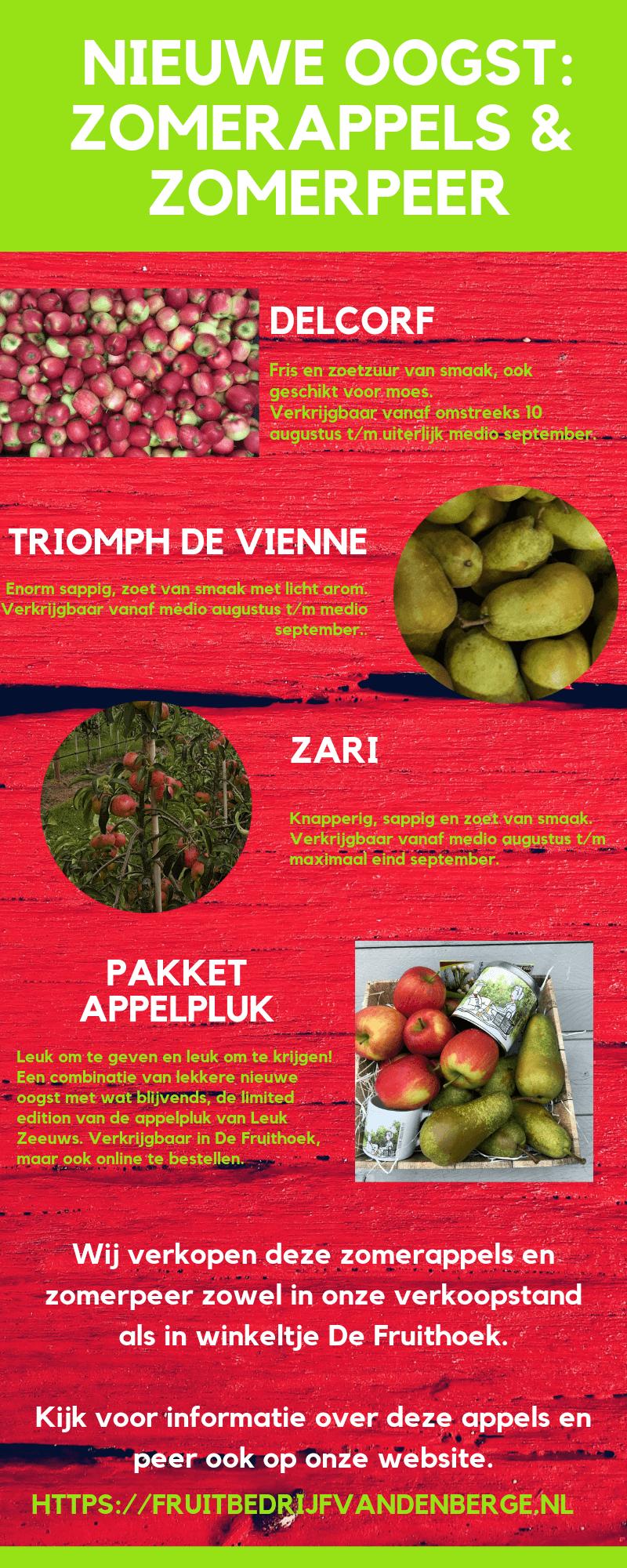 Fruitbedrijf Van den Berge: Zomerappels en zomerpeer