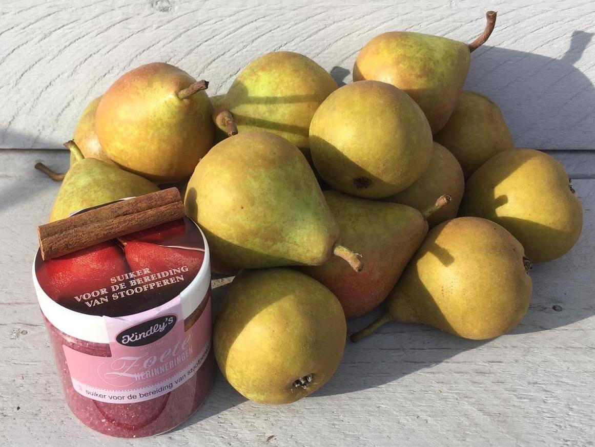 Fruitbedrijf Van den Berge stoofperen perenrood kaneelstokje