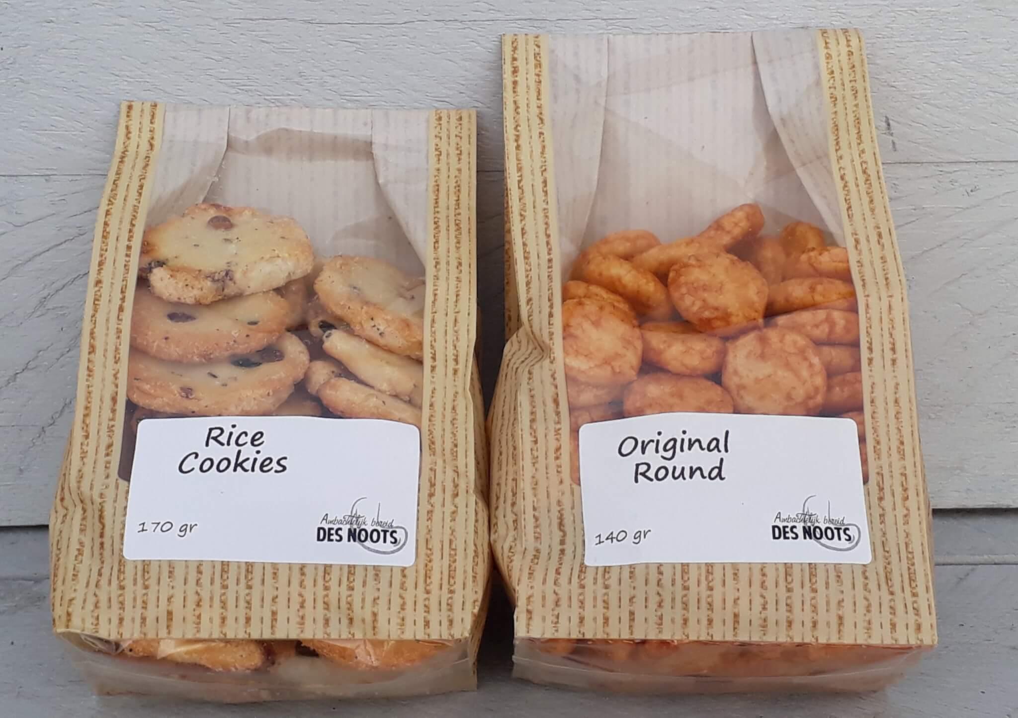Fruitbedrijf Van den Berge original round en rice cookies