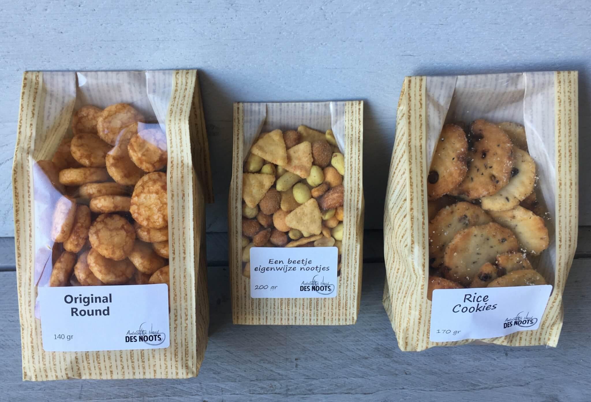 Fruitbedrijf Van den Berge Des Noots 3 soorten zoutjes