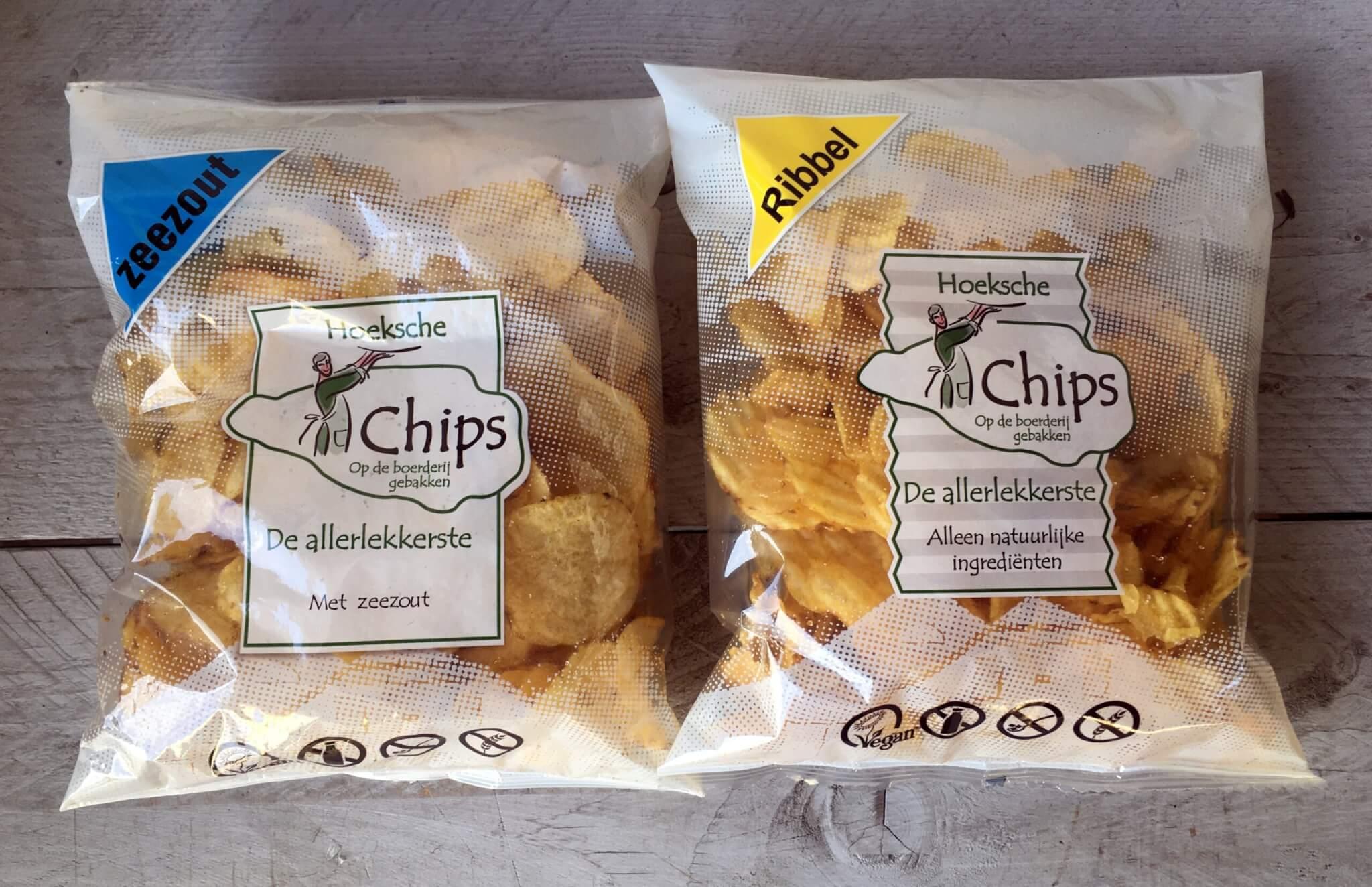 Fruitbedrijf Van den Berge Hoeksche Chips Zeezout en Ribbel