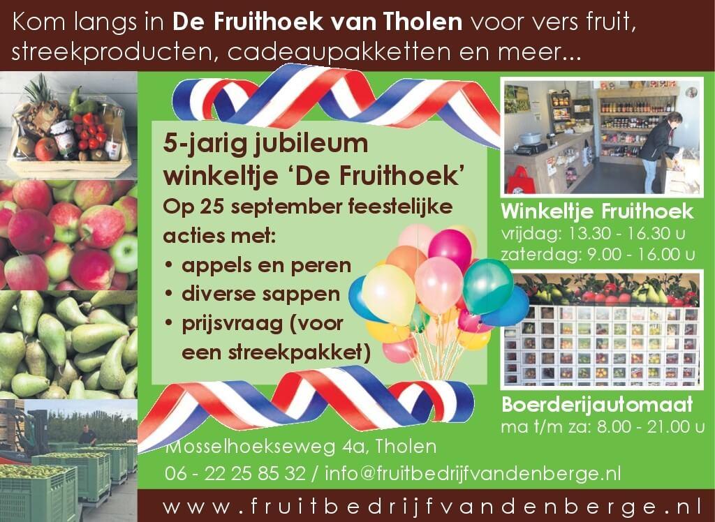 Fruitbedrijf Van den Berge - 5 jarig jubileumr
