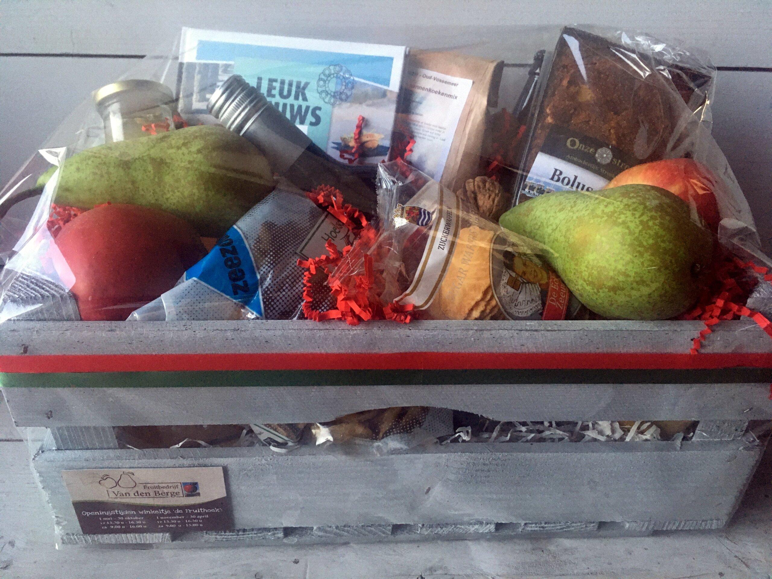 Fruitbedrijf Van den Berge pakket 5 jarig jubileum